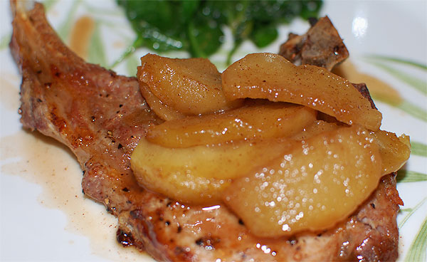Recipe 1 – Caramel Apple Pork Chops