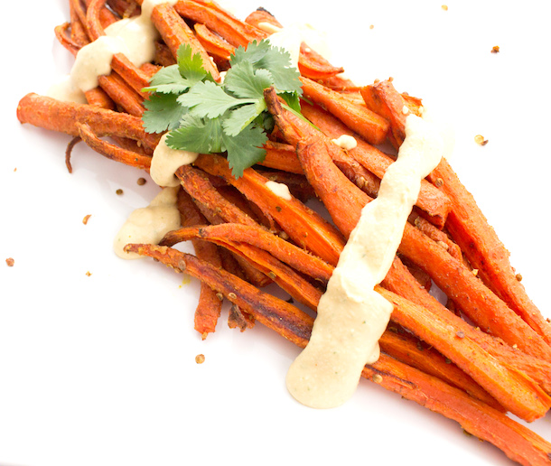 Carrots in cumin and coriander butter